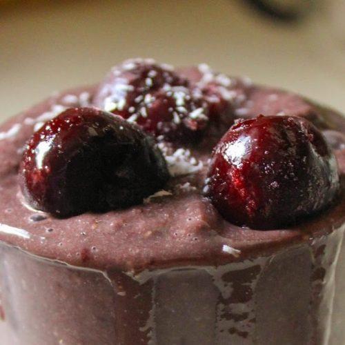 chocolate cherry hemp smoothie e1570488918523