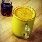 hemp golden milk in cup